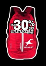 Deals on bags - Flat 30% off on all Fastrack Bags until 5th August.