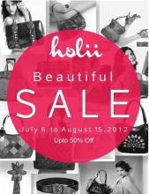 Beautiful Sale at Holii - Upto 50% off from 6 July to 15 August 2012