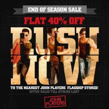 End of Season Sale - Flat 40% off at John Players Flagship stores