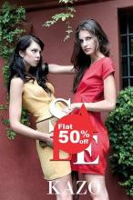 Flat 50% off sale till end of February at all KAZO stores