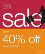 Marks & Spencer end of season sale is on. Get upto 40% off on selected range.