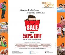 Mom & Me Special Preview Sale - Upto 50% off on 9 & 10 January 2013