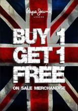 Pepe Jeans End of Season Sale - Buy 1 Get 1 Free on Sale Merchandise
