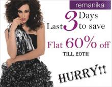 Flat 60% off Sale till 20 August 2012 at Remanika