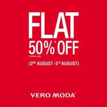 Flat 50% Off Sale at all Vero Moda stores in India from 3 to 5 August 2012