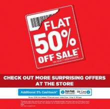 Flat 50% off Sale at Reliance Trends from 24 June 2016