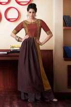 Gudi Padwa Special - Jashn Brown colored Kurta with Bhagalpuri slub fabric