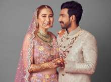 Ace Badminton Player Jwala Gutta & actor Vishnu wore outfits by Rimple and Harpreet Narula for their North Indian wedding ceremony!