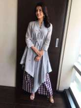 Actress Kajal Aggarwal in Label Tahweave for Movie Promotion